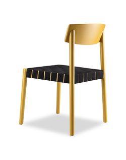Belt Dining Chair Mustard Yellow Black Belt