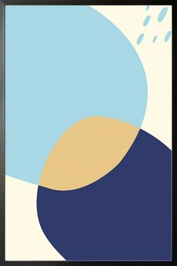 """ABSTRACT SHAPES AND COLOURS NO.2 POSTER 15x19"""""""