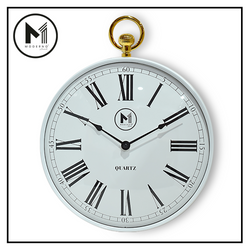 "MODERNO Premium Wall Clock 12"" with Gold Roman Numeral Modern Italian Design Amazing Gift Idea For Any Occasion!"