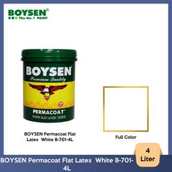 BOYSEN Permacoat Flat Latex  White B-701-4L