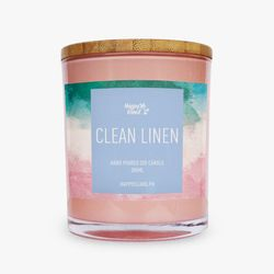 Happy Island Clean Linen Soy Candle 10oz