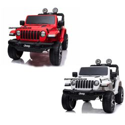 Licensed Jeep Rubicon 4x4 Remote Control Ride On Toy Car
