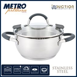 Metro Primera MPCW 1821 18cm Stainless Steel Casserole with lid