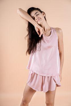 Intissimo Flo (Blush Pink) Silk Short Pyjama