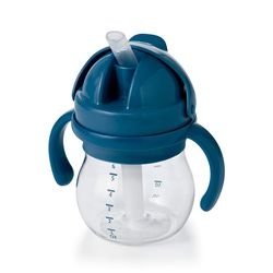 Tickled Babies Oxo Tot Grow Straw Cup With Handles 6 Oz - Navy