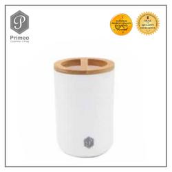 Primeo Bathroom Accessories Bamboo White Series Toothbrush Holder