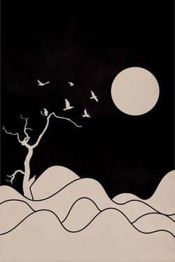"""BIRDS OF THE NIGHT POSTER 24x36"""""""
