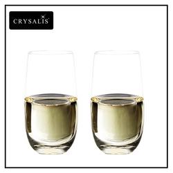 Crysalis Burgundy Glass 2pc Set Crystal Clear 643mL 23oz