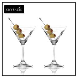 Crysalis Stemware 2pc Set Martini Glass 7 oz.