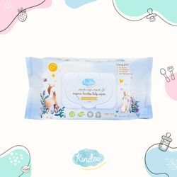 Kindee Organic Bamboo Biodegradable Baby Wet Wipes 80 wipes