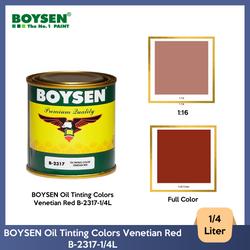 BOYSEN Oil Tinting Colors Venetian Red B-2317-1/4L