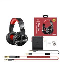 OneOdio Pro10 Black & Red Wired Professional DJ Studio Headphones