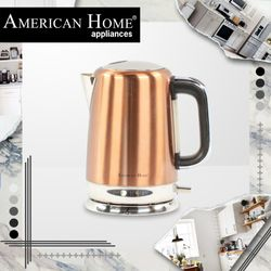 American Home AK-1600GD Stainless Steel Kettle 1600 Color Gold