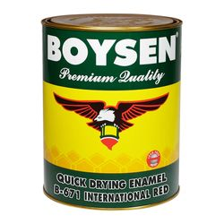 BOYSEN Quick Drying Enamel International Red B-671-1L