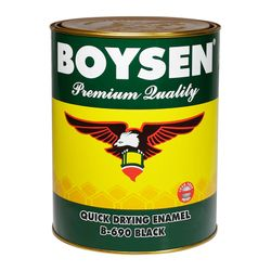 BOYSEN Quick Drying Enamel Black B-690-4L