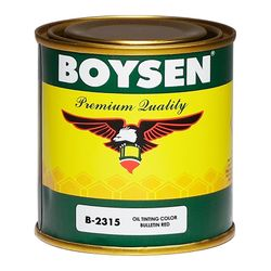 BOYSEN Oil Tinting Colors Bulletin Red B-2315-1/4L