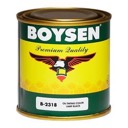 BOYSEN Oil Tinting Colors Lampblack B-2318-1/4L