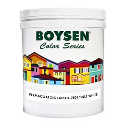 BOYSEN Permacoat Semi-Gloss Latex Tulle White B-7501-1L
