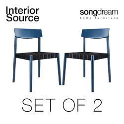 Belt Dining Chair Set of 2 Blue