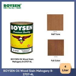BOYSEN Oil Wood Stain Mahogany B-2707-4L