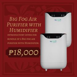 Bactakleen Big Fog Air Purifier with Humidifier 2 for 18,000 Bundle