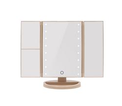 Cascade Tri Fold LED Make Up Mirror