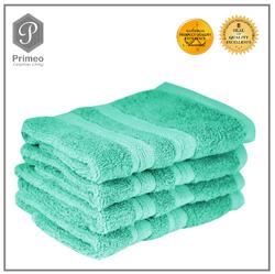 Primeo 4pc 100% Cotton Face Towel Turquoise