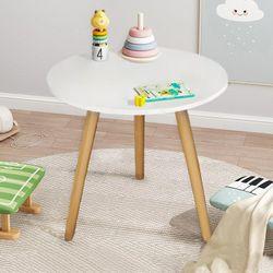 Emeria Kids Round Table - Plain White