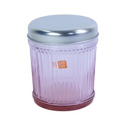 INDUSTRIAL CHIC JAR H.12cm PINK with ALUMINUM LID (7525.2)