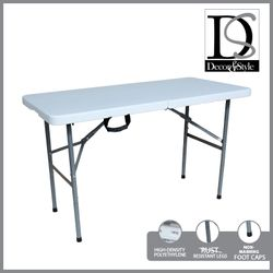 DÉCOR & STYLE DSTB 5352 4FT FOLD IN HALF TABLE