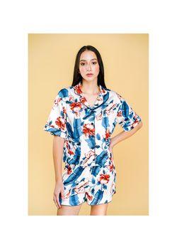 Intissimo Hanah Floral Summer Silk Pyjama Shorts