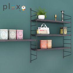 Plex 3-Level Shelving System (White Panel + White Shelves)