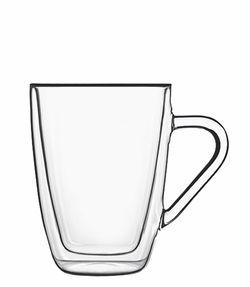 Luigi Bormioli 2 pcs  Thermic Glass  Coffee/Tea Mug, 11 oz