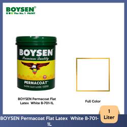 BOYSEN Permacoat Flat Latex  White B-701-1L