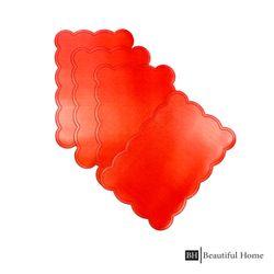Beautiful Home Metallic Scallop Placemat Set of 4