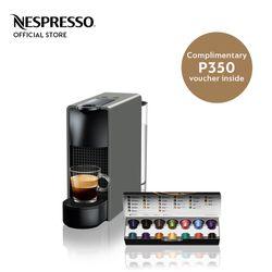 Nespresso® Essenza Mini Gray with Complimentary Welcome Coffee Set