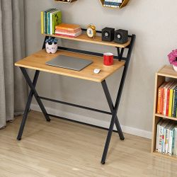 Enzo Foldable Desk - Light Brown