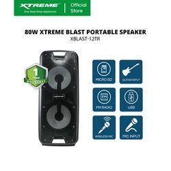 XTREME 80W One Way Portable Speaker System (XBLAST-12TR)