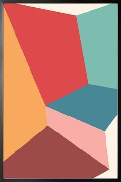 ABSTRACT SHAPES AND COLOURS NO.15 POSTER 8x11