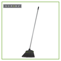 SCRUBZ Heavy Duty Cleaning Essentials Easy Grip Premium Long Angle Broom 140cm x 30cm