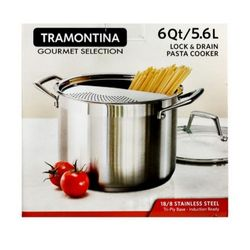 Tramontina Gourmet Collection 6Qt/5.6L Lock & Drain Pasta Cooker 1pc