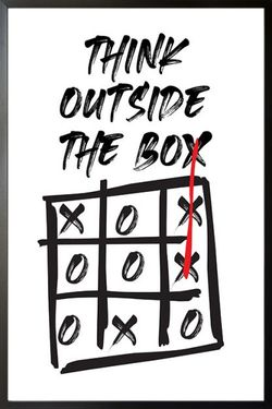THINK OUTSIDE THE BOX POSTER 8x11""