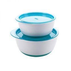 Tickled Babies Oxo Tot Small & Large Bowl Set - Aqua