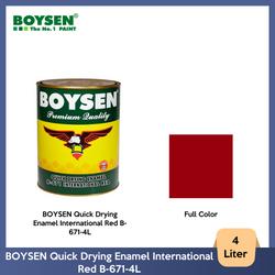 BOYSEN Quick Drying Enamel International Red B-671-4L