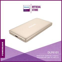 Philips DLP6101 Powerbank 10,000 mAh Li-Polymer, Detachable MFI Cable