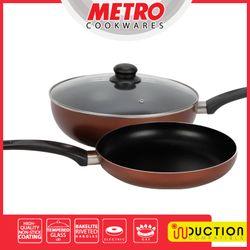 MetroMCW 5642 28cm Non-stick Wok with FREE 22 cm non-stick fry pan