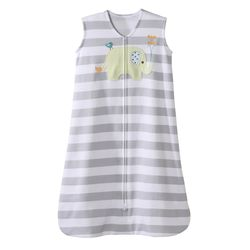 Tickled Babies Halo Sleepsack Wearable Blanket Gray Elephant Applique - Large
