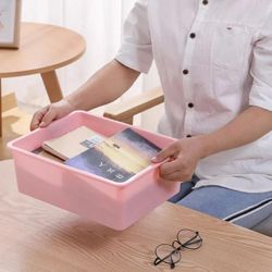 Homescapes Compartment NO-GRID Storage Box Organizers with lid (PINK)
