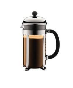 BODUM CHAMBORD COFFEE MAKER,8cup,1.0L,34oz,PC BEAKER,CHROME