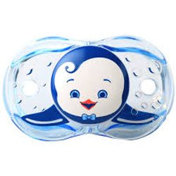 Tickled Babies Razbaby Keep-It-Klean Pacifier - Ethan Penguin